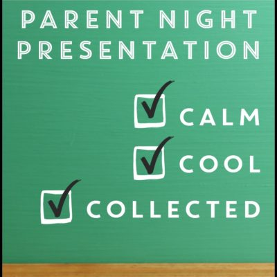 Parent Night: Calm, Cool and Collected