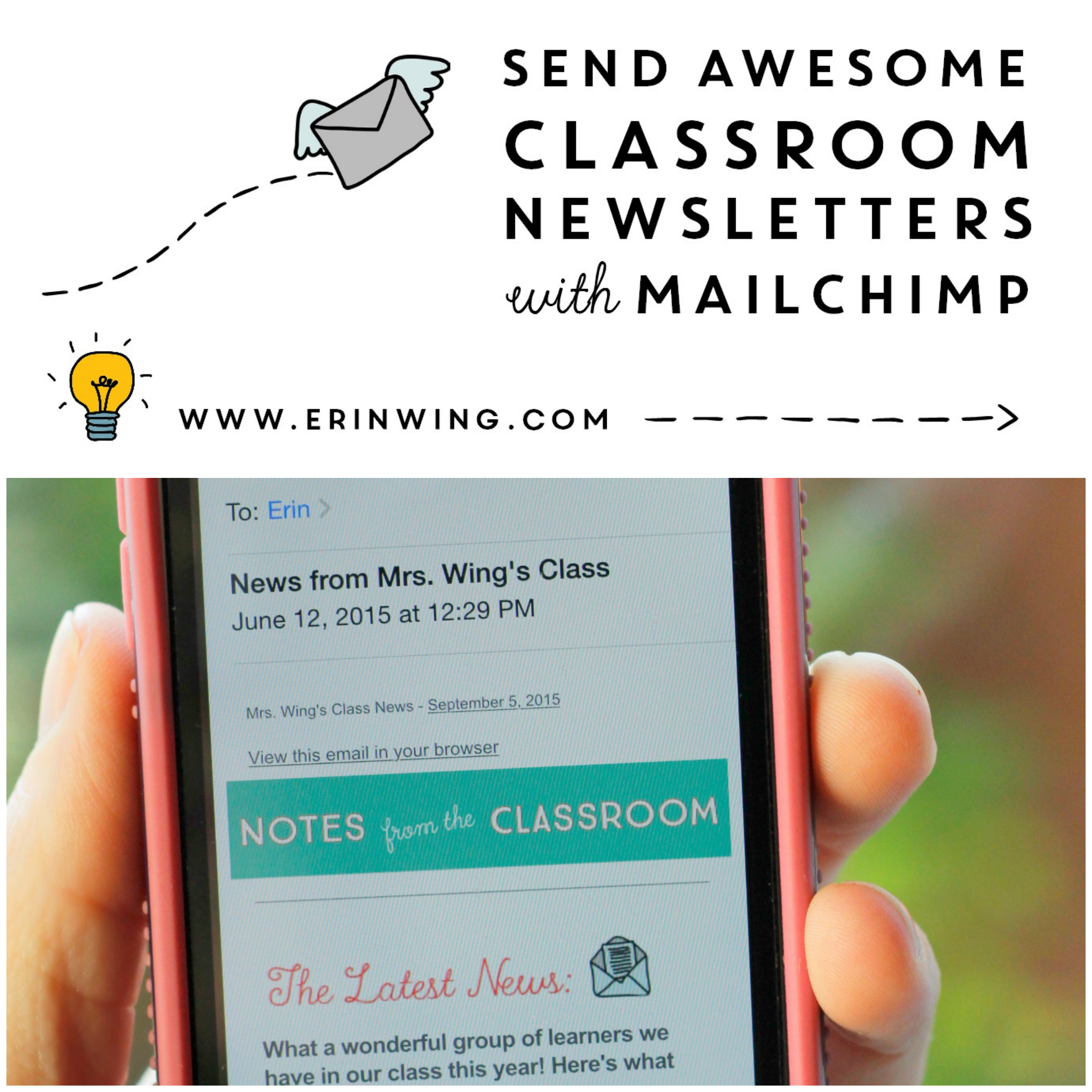 Classroom Newsletters And MailChimp Erin Wing - Mailchimp mobile templates