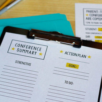 Free Printables for Parent Teacher Conferences
