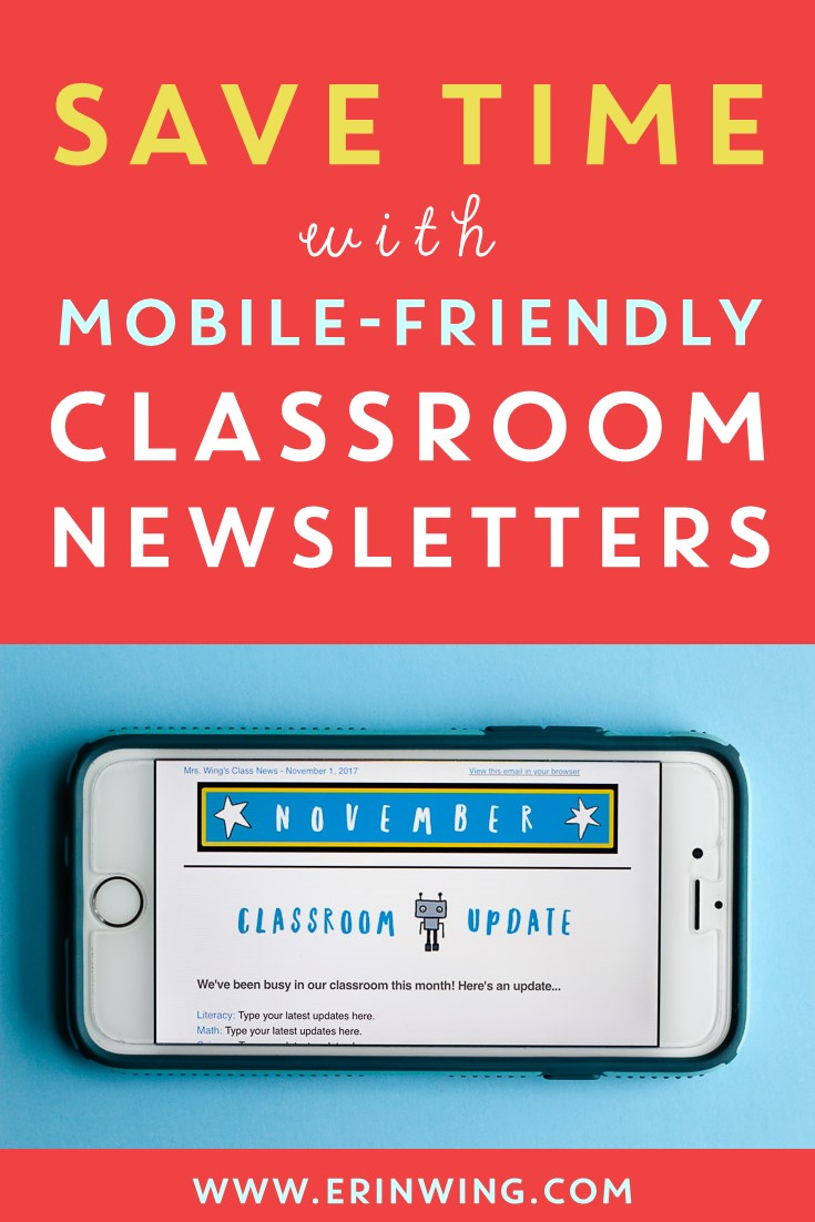 classroom newsletters and mailchimp erin wing